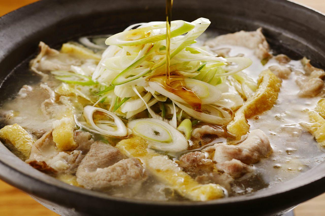 豚肉のごまねぎ塩麹鍋