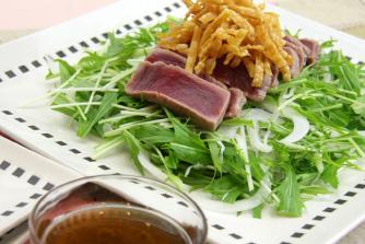 まぐろとしゃきしゃき水菜の中華風サラダ
