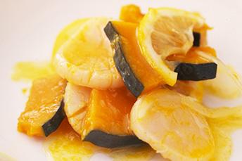 かぼちゃと帆立のレモンマリネ