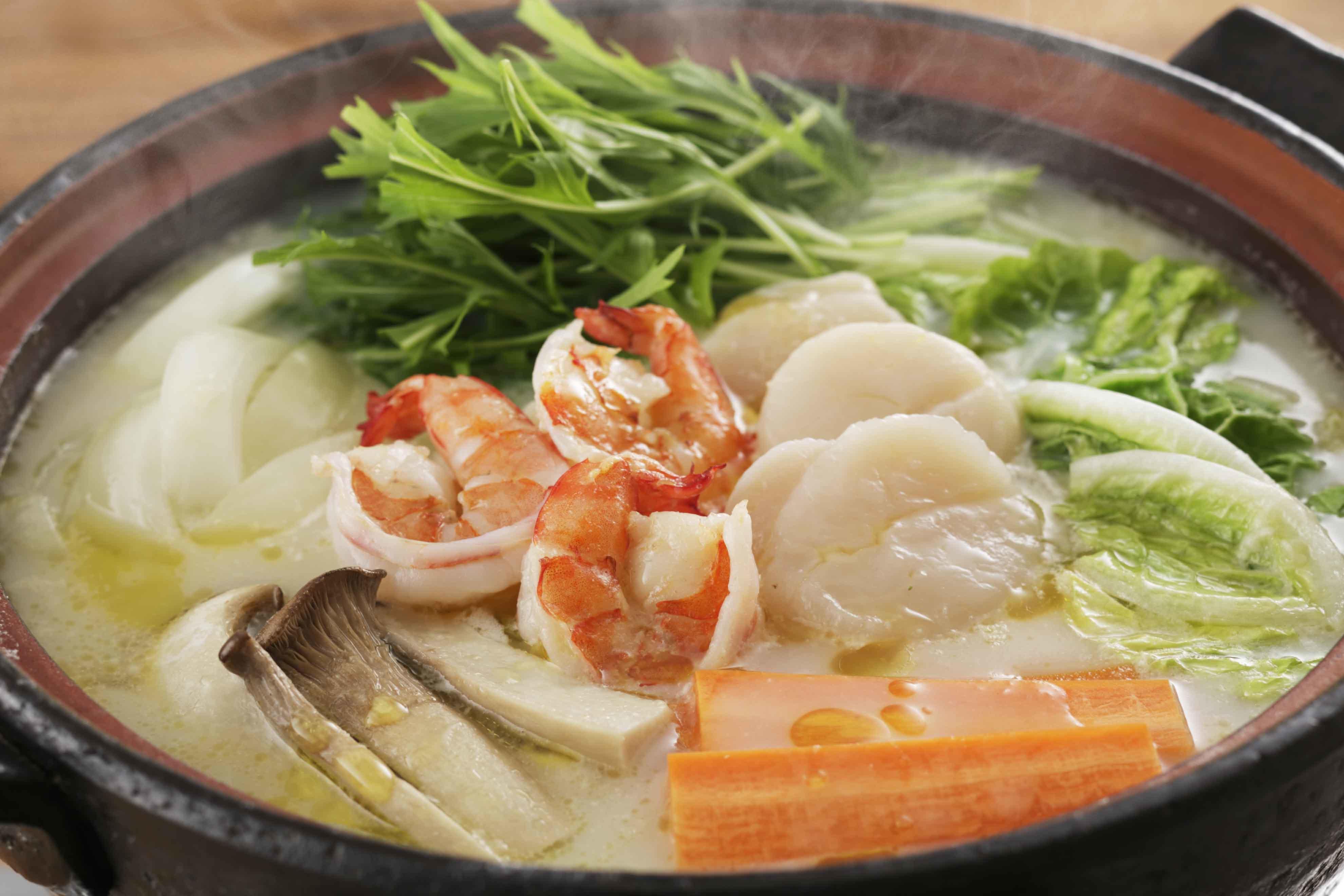 魚介のクリームシチュー鍋