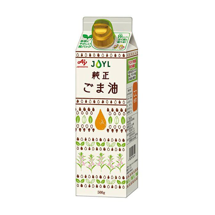 「AJINOMOTO 純正ごま油」 500g紙パック